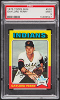 Baseball Cards:Singles (1970-Now), 1975 Topps Mini Gaylord Perry #530 PSA Mint 9....