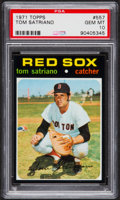 Baseball Cards:Singles (1970-Now), 1971 Topps Tom Satriano #557 PSA Gem Mint 10 - Pop One! ...