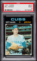 Baseball Cards:Singles (1970-Now), 1971 Topps Bill Hands #670 PSA Mint 9....