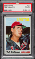 Baseball Cards:Singles (1970-Now), 1970 Topps Ted Williams #211 PSA Mint 9....
