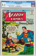 Silver Age (1956-1969):Superhero, Action Comics #232 (DC, 1957) CGC VF+ 8.5 Off-white pages....