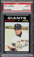 Baseball Cards:Singles (1970-Now), 1971 Topps Tito Fuentes #378 PSA Mint 9....