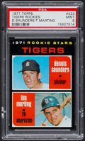 Baseball Cards:Singles (1970-Now), 1971 Topps Tigers Rookies #423 PSA Mint 9....