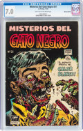 Golden Age (1938-1955):Horror, Misterios del Gato Negro (Black Cat Mystery) #21 Mexican Edition(Harvey, 1954) CGC FN/VF 7.0 Light tan to off-white pages....