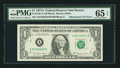 Error Notes:Mismatched Serial Numbers, Fr. 1910-A $1 1977A Federal Reserve Note. PMG Gem Uncirculated 65 EPQ.. ...