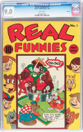 Golden Age (1938-1955):Funny Animal, Real Funnies #1 Denver pedigree (Nedor Publications, 1943) CGCVF/NM 9.0 White pages....