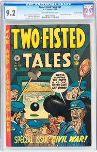 Two-Fisted Tales #31 Gaines File pedigree (EC, 1953) CGC NM- 9.2 Off-white to white pages