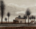 Fine Art - Painting, European:Contemporary   (1950 to present)  , Jacques Deperthes (French, b. 1936). Provence, 1971. Oil oncanvas. 21-1/4 x 24 inches (54.0 x 61.0 cm). Signed lower le...