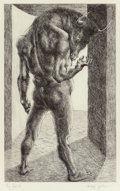 Fine Art - Work on Paper:Print, Michael Ayrton (British, 1921-1975). Minotaur--Risen, 1971.Etching. 21-1/4 x 13-1/4 inches (54.0 x 33.7 cm). AP (aside ...