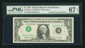 Error Notes:Inverted Third Printings, Fr. 1908-A $1 1974 Federal Reserve Note. PMG Superb Gem Unc 67EPQ.. ...