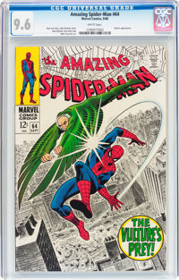 The Amazing Spider-Man #64 (Marvel, 1968) CGC NM+ 9.6 White pages