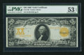Large Size:Gold Certificates, Fr. 1186 $20 1906 Gold Certificate PMG About Uncirculated 53 EPQ.....