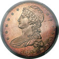 Proof Reeded Edge Half Dollars, 1836 50C PR64 Cameo PCGS. GR-1, Low R.7 as a proof....