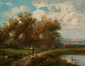 Fine Art - Painting, European:Antique  (Pre 1900), Eugène Victor de Flogny (French, 1825-1879). Scenes of the French Countryside (two works). Oil on panel, each. 6-1/4 x 8... (Total: 2 Items)