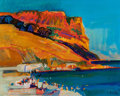 Fine Art - Painting, European:Contemporary   (1950 to present)  , Georges Briata (French, b. 1933). Bord de Mer, 1973. Oil oncanvas. 25-3/4 x 32 inches (65.4 x 81.3 cm). Signed and date...