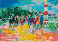 Fine Art - Work on Paper:Print, Leroy Neiman (American, 1921-2012). Florida Racing.Screenprint in colors. 29 x 40-1/2 inches (73.7 x 102.9 cm). Ed.254...
