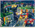 Fine Art - Work on Paper:Print, Leroy Neiman (American, 1921-2012). 24 Hours at Le Mans,circa 1987. Screenprint in colors. 28-3/4 x 37-3/4 inches (73.0...