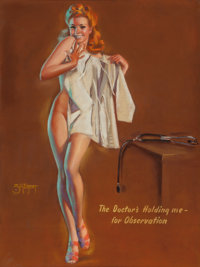 "Zoe Mozert (American, 1904-1993) ""The Doctor's Holding me - for Observation,"" Mutoscope Arcade Card by Brown &..."