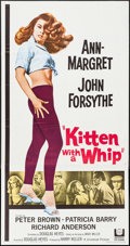 "Movie Posters:Bad Girl, Kitten with a Whip (Universal, 1964). Three Sheet (41"" X 78.5"").Bad Girl.. ..."