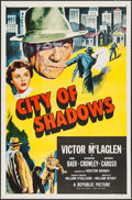 "Movie Posters:Crime, City of Shadows & Other Lot (Republic, 1955). One Sheets (2)(27"" X 41"") Flat Folded. Crime.. ... (Total: 2 Items)"