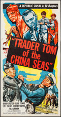 "Movie Posters:Serial, Trader Tom of the China Seas (Republic, 1954). Three Sheet (41"" X78.5""). Serial.. ..."