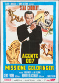 "Movie Posters:James Bond, Goldfinger (UIP, R-1970s). Italian 4 - Foglio (55"" X 76.5""). JamesBond.. ..."