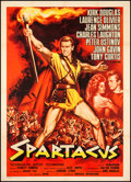 "Movie Posters:Action, Spartacus (Universal International, 1961). Italian 2 - Foglio(39.25"" X 55""). Action.. ..."