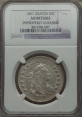 Early Half Dollars, 1807 50C Draped Bust, O-103, R.3 -- Improperly Cleaned -- NGCDetails. AU....