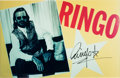 Music Memorabilia:Autographs and Signed Items, Beatles - Ringo Starr Signed Large Photo in Matted Display. ...
