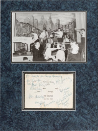 Beatles Rare Early Signatures with Roy Young and Bernard Boyle in Matted Display (Hamburg, 1962)