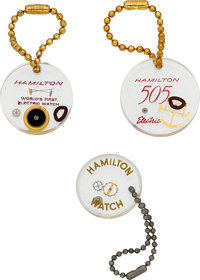 Hamilton Key Rings With Embedded Watch Parts