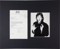 Music Memorabilia:Autographs and Signed Items, Beatles - Paul McCartney Typed Letter Signed in Matted Display (London, October 19, 1976). ...