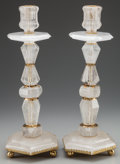 Other:Contemporary, A Pair of Large Rock Crystal Candlesticks, 20th century. 22-1/2inches high (57.2 cm). ... (Total: 2 Items)
