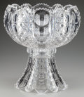 Art Glass:Other , A Dorflinger Montrose Clear Cut-Glass Punch Bowl on Stand, circa1895. 15 inches high x 12 inches diameter (38.1 x 30.5 cm)...(Total: 2 Items)
