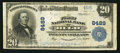 National Bank Notes:Colorado, Hugo, CO - $20 1902 Plain Back Fr. 652 The First NB Ch. # 8489. ...