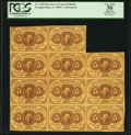 Fractional Currency:First Issue, Fr. 1230 5¢ First Issue Block of Eleven PCGS Apparent Very Fine30.. ...