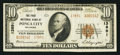 National Bank Notes:Oklahoma, Ponca City, OK - $10 1929 Ty. 2 The First NB Ch. # 13891. ...