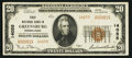 National Bank Notes:Pennsylvania, Greensburg, PA - $20 1929 Ty. 2 First NB Ch. # 14055. ...