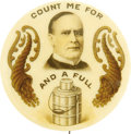 "Political:Pinback Buttons (1896-present), William McKinley: ""Count Me For"" Full Color 1¼"" Celluloid...."