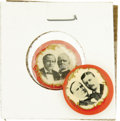 "Political:Pinback Buttons (1896-present), McKinley & Roosevelt and Bryan & Stevenson: Matched Pair of7/8"" Jugates...."