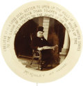 """Political:Pinback Buttons (1896-present), William McKinley: Classic 1½"""" Front Porch Celluloid...."""