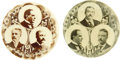 """Political:Pinback Buttons (1896-present), William McKinley: Two Different 1¼"""" Trigates.... (Total: 2 Items)"""
