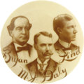 Political:Pinback Buttons (1896-present), Bryan & Lind & Daly Coat-tail Trigate....