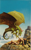 "Original Comic Art:Covers, Rowena Morrill - ""King Dragon"" Paperback Cover Painting OriginalArt (Ace Books, 1980). This is one of Rowena's most famous ..."