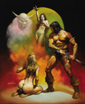"Original Comic Art:Covers, Boris Vallejo - ""Conan the Freebooter"" Paperback Cover PaintingOriginal Art (Ace Books, 1977). Boris Vallejo flexes his art..."