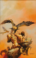 "Original Comic Art:Covers, Boris Vallejo - ""The Lavalite World"" Paperback Book Cover Painting Original Art (Ace Books, 1977). An Ace Books edition of P..."