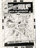Original Comic Art:Covers, Gene Colan and Bill Everett - Tales to Astonish #88 Sub-Mariner Cover Original Art (Marvel, 1967). When Gene Colan took on t...