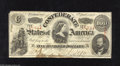 Confederate Notes:1863 Issues, T56 $100 1863. This snappy Very Fine $50 with light folds has anAWOL upper left-hand corner tip. There is also a stain ...