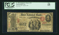 National Bank Notes:Maine, Augusta, ME - $1 Original Fr. 380b The First NB Ch. # 367. ...