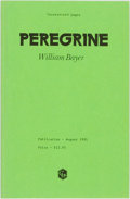 Books:Mystery & Detective Fiction, William Bayer. UNCORRECTED PROOF. Peregrine. [New York:Congdon & Lattes, 1981]....